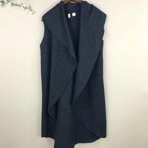 Moth 100% Wool Ruffle Duster Vest Anthro #883